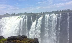 Happy New Year 2020 an den Victoria Falls